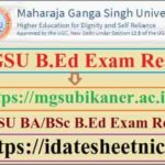 MGSU B.Ed 1st 2nd Year Result 2020