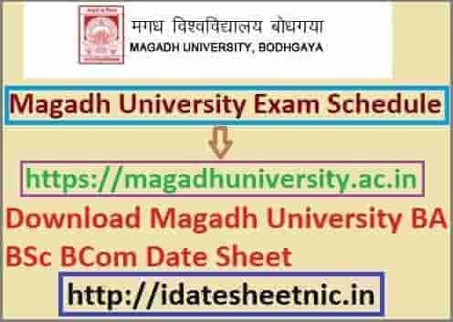 Magadh University Exam Schedule 2021
