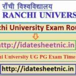 Ranchi University UG PG Time Table 2021