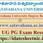Satavahana University Degree Result 2020