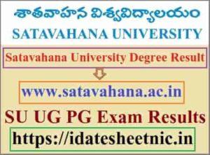 Satavahana University Degree Result 2020
