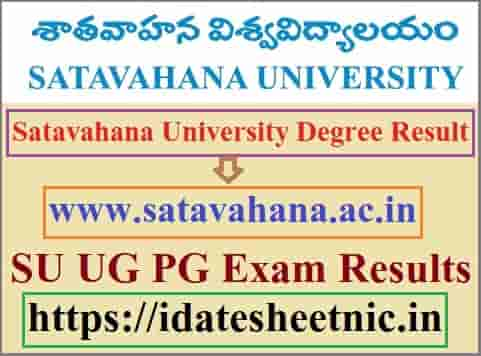 Satavahana University Degree Result 2021