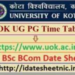 Kota University UG PG Date Sheet 2021