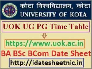 Kota University UG PG Date Sheet 2021