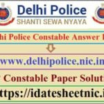 Delhi Police Constable Exam Answer Key 2020