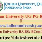 Kolhan University UG PG Exam Result 2020