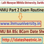 LNMU BA BSc BCom 2nd Year Time Table 2021