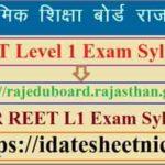 Rajasthan REET L1 Exam Syllabus 2021