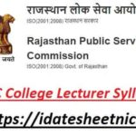 RPSC Assistant Professor Exam Syllabus 2021