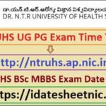 NTRUHS BSc Nursing MBBS Date Sheet 2021