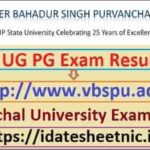 Purvanchal University UG PG Exam Result 2021