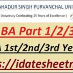 VBSPU BA Exam Result 2021