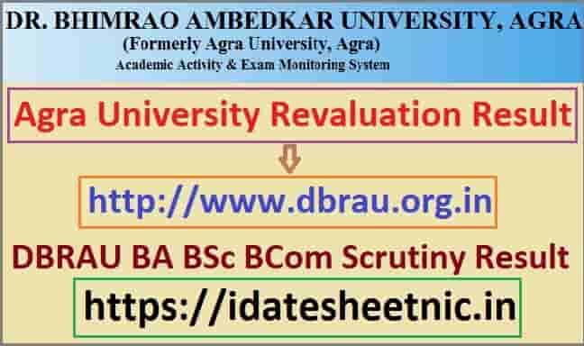 DBRAU BA BSc BCom Scrutiny Result 2021