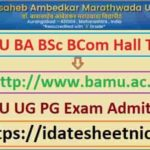 BAMU BA BSc BCom Exam Hall Ticket 2021