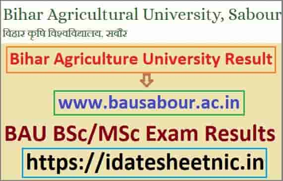 Bihar Agriculture University Exam Result 2021