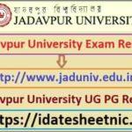 Jadavpur University BA BSc BCom Result 2021
