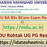 MDU BA BSc BCom Exam Result 2021