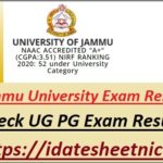 Jammu University UG PG Exam Result 2021