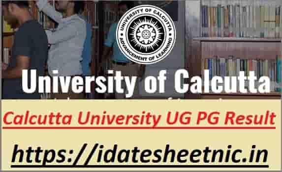 Calcutta University UG PG Exam Result 2021