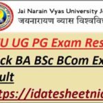JNVU BA BSc BCom Result 2021