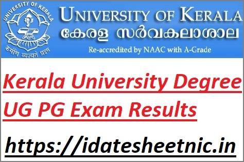 Kerala University UG PG Exam Results 2021