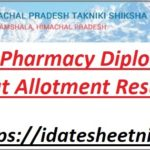 HPTECH Board Pharmacy Diploma Seat Allotment Result 2021
