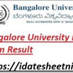 Bangalore University B.Ed Exam Result 2021
