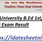CCSU B.Ed Exam Result 2021-22