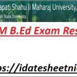 Kanpur University B.Ed Exam Result 2021