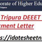 Tripura DEET Diploma Seat Allotment Result 2021