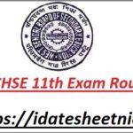 WB Board 11th Class Exam Routine 2022