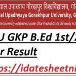 DDU GKP B.Ed Exam Result 2021-22