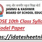 JKBOSE 10th Class Syllabus 2022
