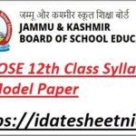 JKBOSE 12th Class Syllabus 2022