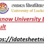Lucknow University B.Ed Result 2021