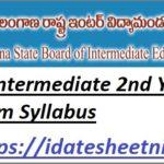 TS Intermediate Exam Syllabus 2022